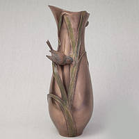 Бронзовая ваза Птичка в тростнике (34 см)