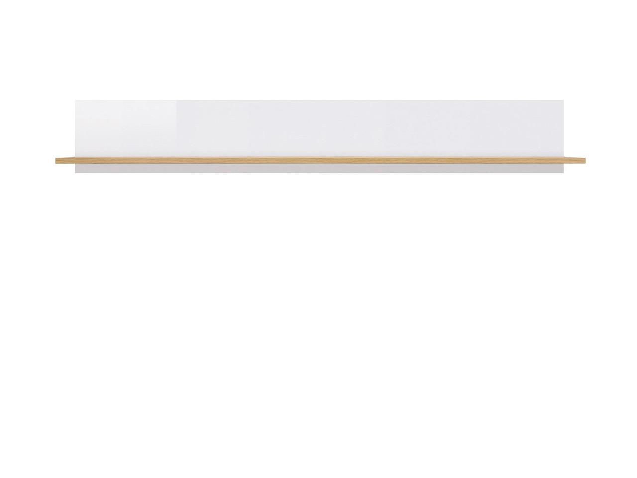 Полка POL/135 Zele BRW дуб вотан/белый глянец