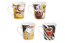 Кружка фарфоровая 375мл Coffee, 4 вида (334-417), фото 2