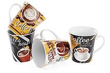 Кружка фарфоровая 375мл Coffee, 4 вида (334-417), фото 3