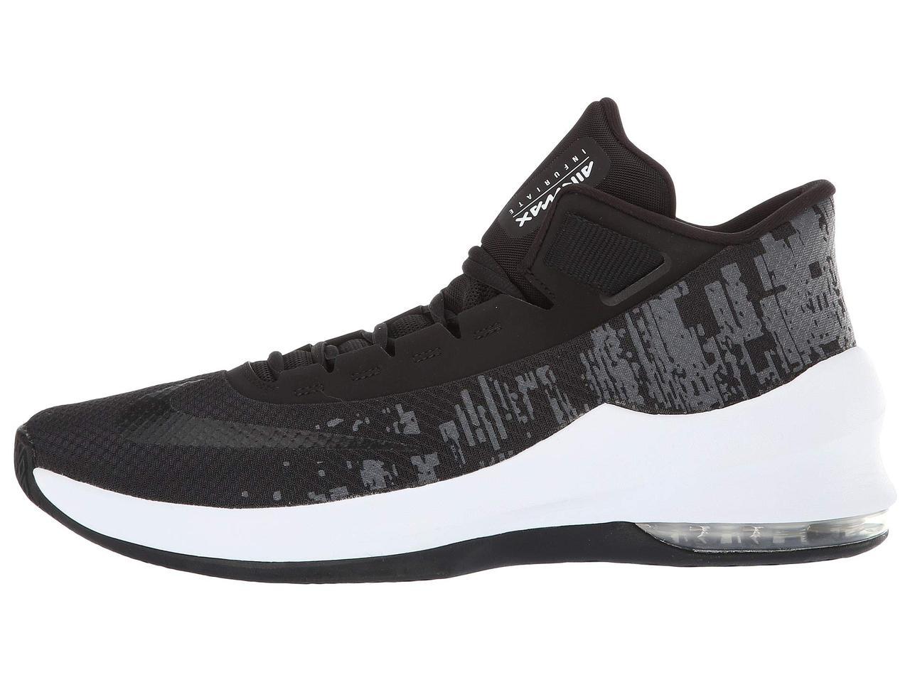 09f28b1a89ed ... Кроссовки Кеды (Оригинал) Nike Air Max Infuriate 2 Mid Black Black  ...