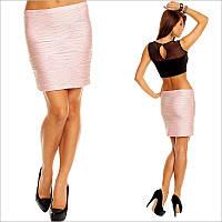 Облегающая юбка светло-розового цвета