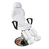 Педикюрное кресло для педикюра на гидравлике для салона красоты/ ножки раздельные/ съемный подголовник