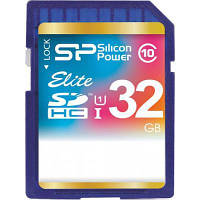 Карта памяти Silicon Power 32Gb SDHC class 10 (SP032GBSDHAU1V10)