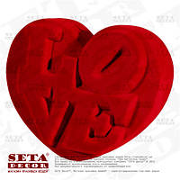 "Копилка в форме сердца ""Love"" красная"