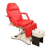 Педикюрное кресло-кушетка с регулировкой высоты (гидравлика) для косметолога, для педикюра, для тату ZD823A