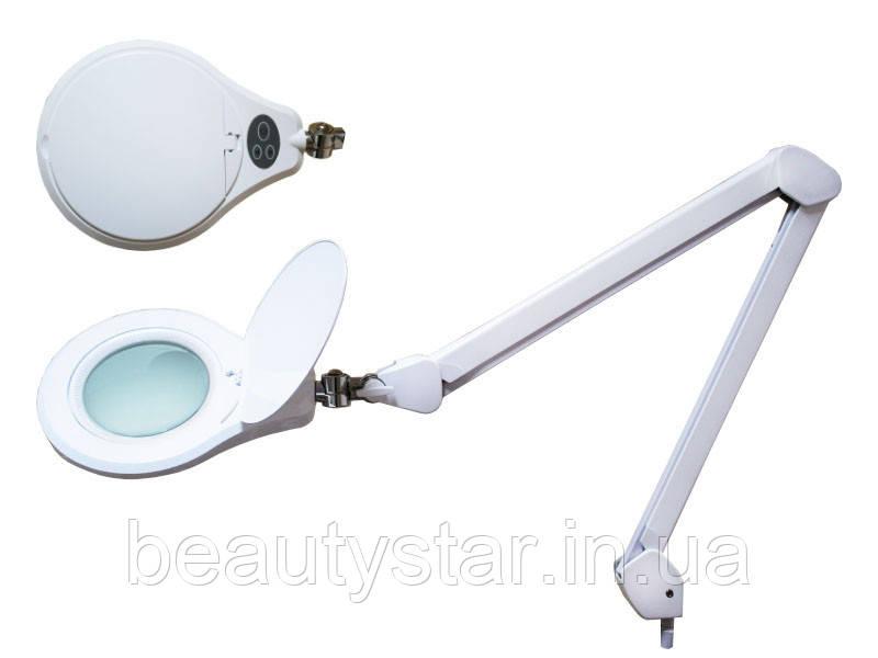 Лампа-лупа мод. 8066 U-3D LED (3 диопт.), кріплення до столу