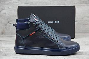 Tommy Hilfiger  ботинки мужские синие (Реплика)