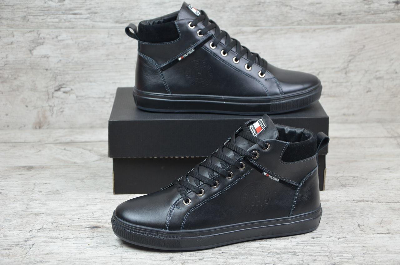 Tommy Hilfiger ботинки мужские черные (Реплика)  продажа 1da4087d8ec50