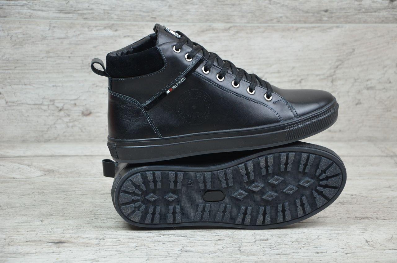 Tommy Hilfiger ботинки мужские черные (Реплика) de9780da2eec8