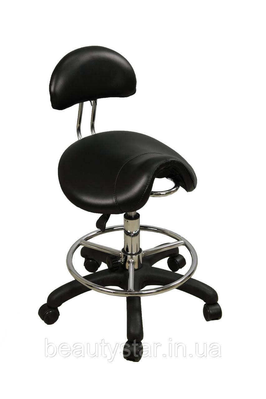 Стул-седло со спинкой и подставкой под ноги:ZD-2110