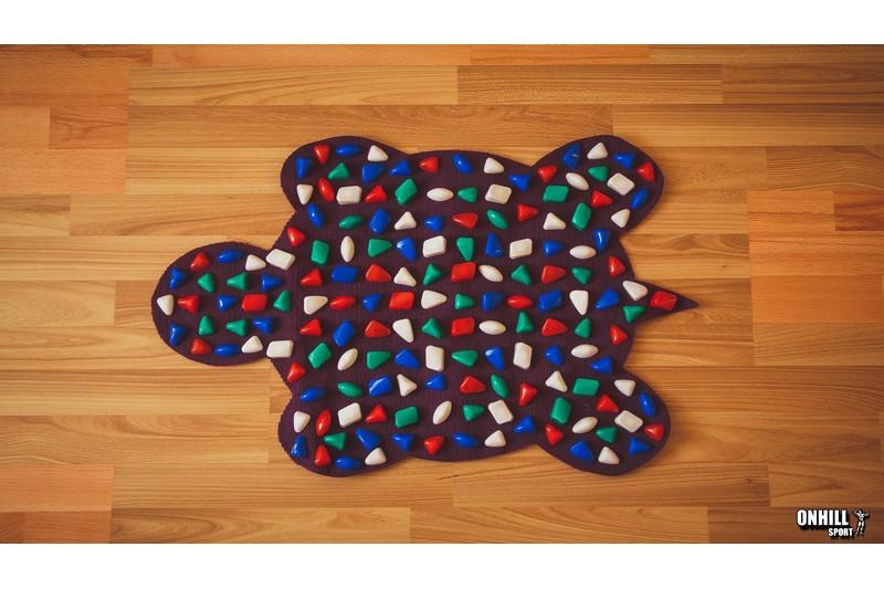 Масажний килимок масажер з кольоровими каменями Черепаха (р. 80х50см)