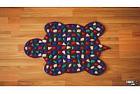 Масажний килимок масажер з кольоровими каменями Черепаха (р. 80х50см), фото 1