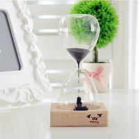 Декоративные стеклянные часы Magnet Hourglass, фото 1