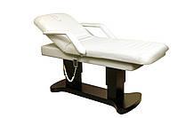 Массажный стол широкий на усиленном основании и опорах кушетка электрическая с подогревом цвет белый ZD-866Н