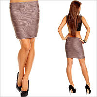 Облегающая юбка коричневого цвета