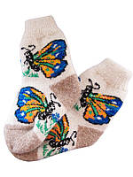 """Шерстяные женские носки """"Бабочка"""""""