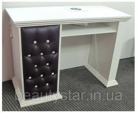 Стол для мастера маникюра однотумбовый на 3 ящика маникюрные столы  Velmi 131