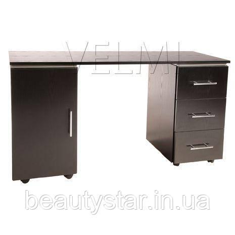 Манікюрний стіл двотумбовий для салону краси столик для манікюру на колесах для нарощування нігтів VM121