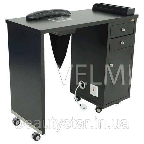 Манікюрний стіл однотумбовий з висувними ящиками для майстра манікюру меблі для салонів краси VM122