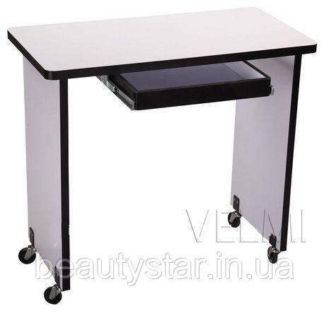 Маникюрный столик мобильный компактный для маникюра педикюра мини стол передвижной для салона красоты  VM125