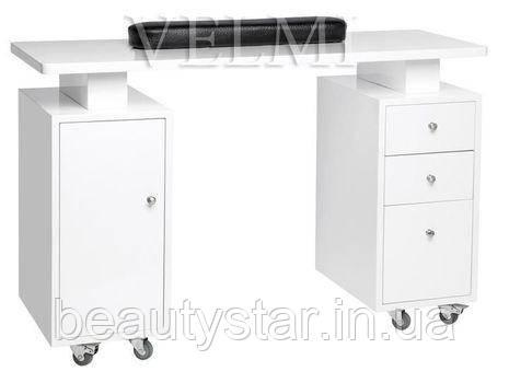 Маникюрный стол двух тумбовый без вытяжки стол для кабинета маникюра салона красоты VM110