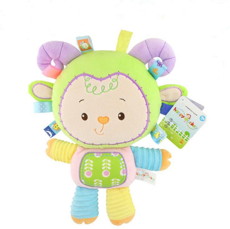 Мягкая игрушка - погремушка Овечка Happy Monkey
