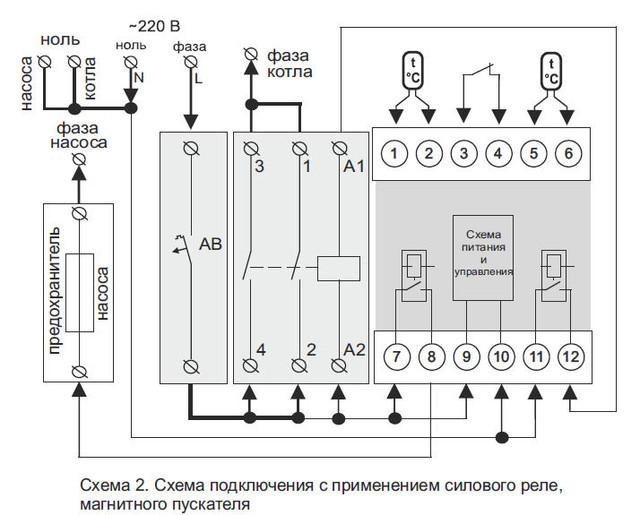 Схема подключения Terneo BeeRT_2