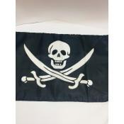 Пиратский Флаг с Черепом 30*46 см