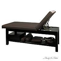 Стационарный деревянный массажный стол для СПА салона красоты массажная кушетка широкая ZD-855