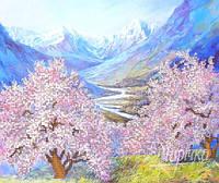 """Схема для вышивки бисером А3 """"Весна в горах"""""""