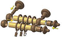 Подвійний Кронштейн для труби