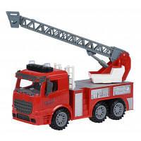 Спецтехника Same Toy инерционная Truck Пожарная машина с лестницей со светом и зв (98-616AUt)