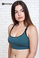 Бюстгальтер-топ для беременных и кормящих ZNANA Sport хаки, фото 1