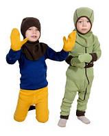 Варежки с пальцем из двойного слоя шерсти мериноса MaM ManyMonths, фото 1