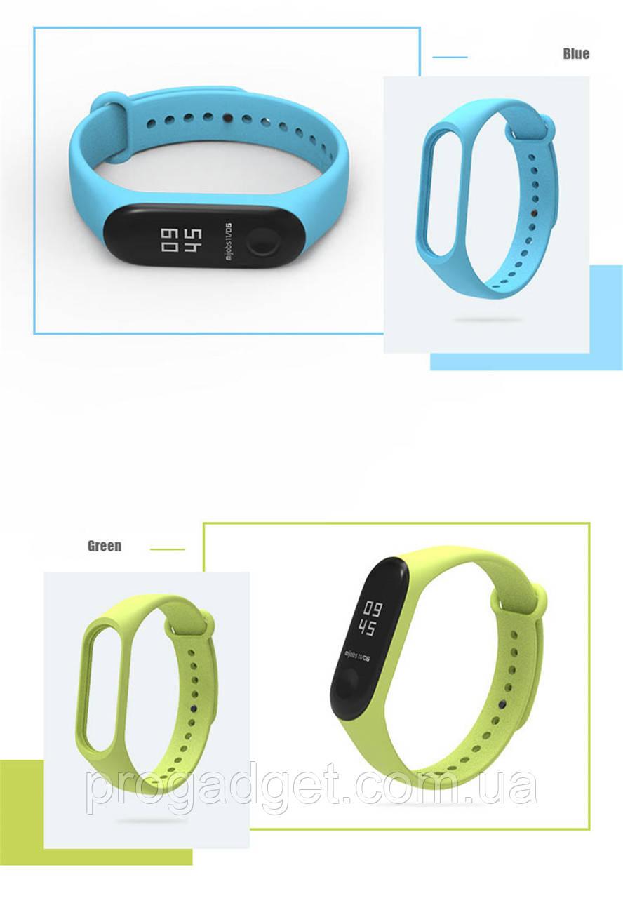 Мягкий браслет ремешок для Xiaomi Mi Band 4 Green, Blue, Orange, Yellow, Light green