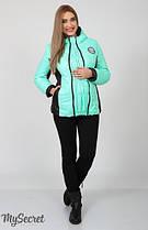 Демисезонная куртка для беременных Юла Mama Lemma арт. OW-17.012 мятная+черный