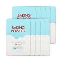 Etude house baking powder pore cleansing foam пенка для умывания 4мл (пробник)