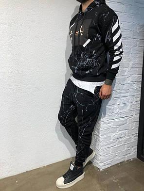 Костюм спортивный черного цвета с принтом, фото 2