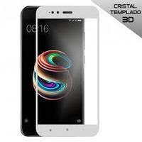 3D Full Glue защитное стекло для Xiaomi Mi A1 / Mi 5X (клеится вся поверхность) Белый