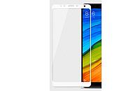 3D Full Glue защитное стекло для Xiaomi Redmi 5 Plus (клеится вся поверхность) Белый