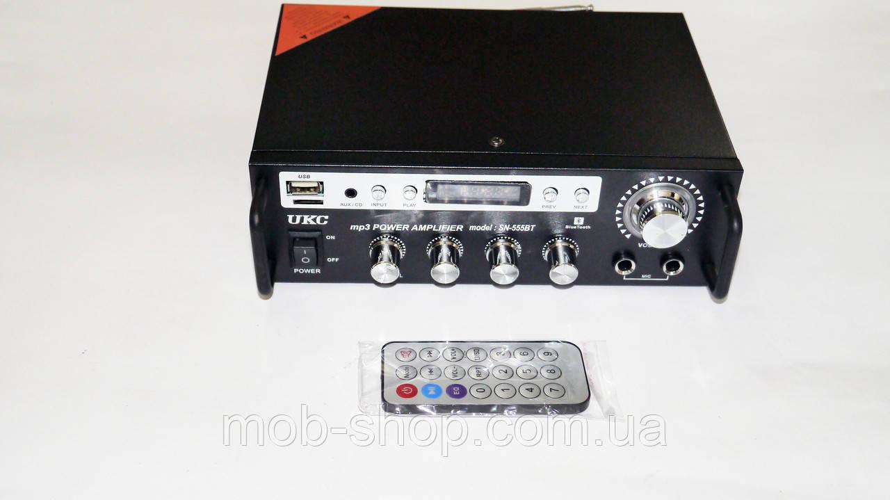 Усилитель звука UKC SN-555BT USB+SD+FM+Karaoke