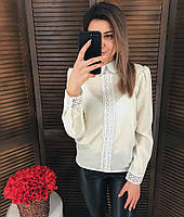 Блузка ТМ K&ML с кружевом, разные цвета, фото 1