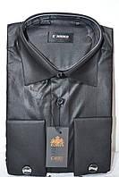 Мужская черная под запонку рубашка ENRICO