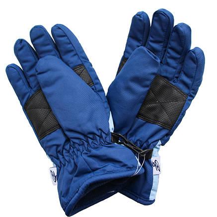 Детские зимние теплые непромокаемые перчатки  4-8 лет синие, фото 2