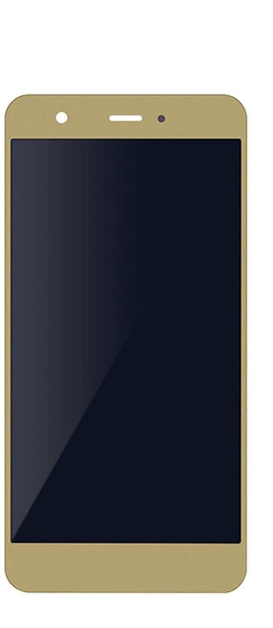 Дисплей (экран) для Huawei Nova CAN-L01 с сенсором (тачскрином) и рамкой золотистый без микросхемы