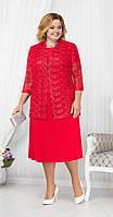 Костюм Ninele-5665 белорусский трикотаж, красный, 58, фото 1