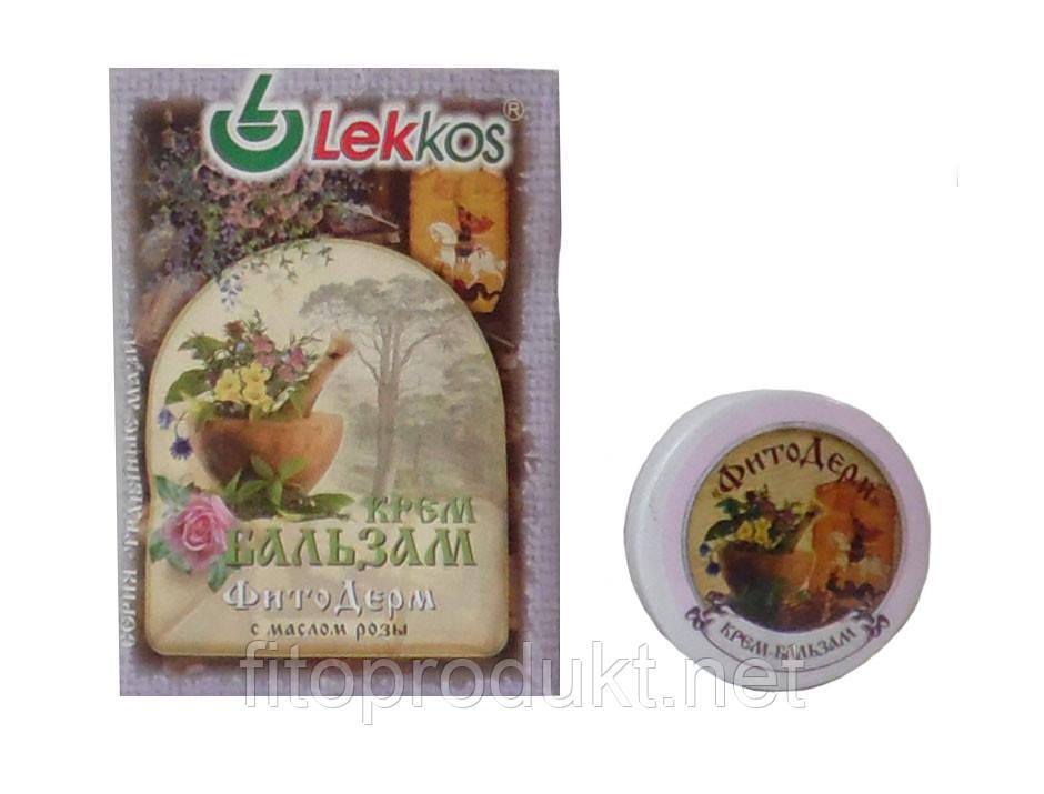 Крем-бальзам ФитоДерм при псориазе, экземе с маслом розы Леккос 10 г