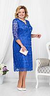 Платье Ninele-5673/2 белорусский трикотаж, василек, 54