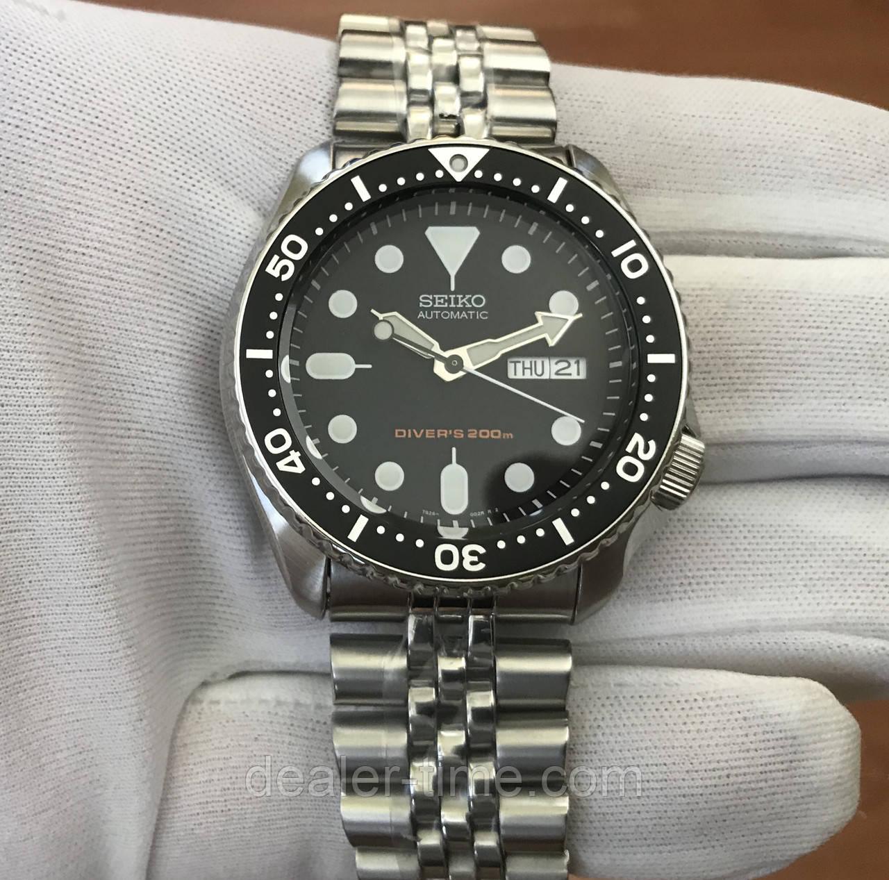 Seiko Automatic Diver 200m Skx007k2 7 380 Divers Black Dial Dealer Time